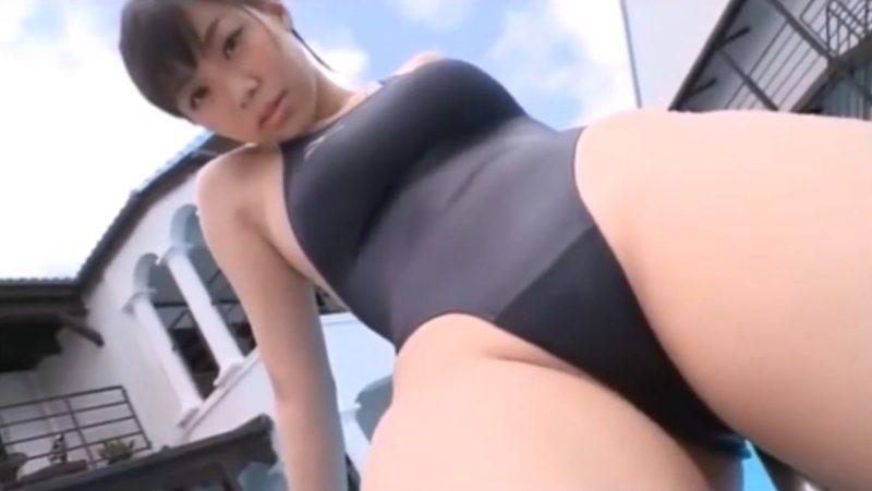 鈴木ふみ奈 ハイレグ 競泳水着 エロ